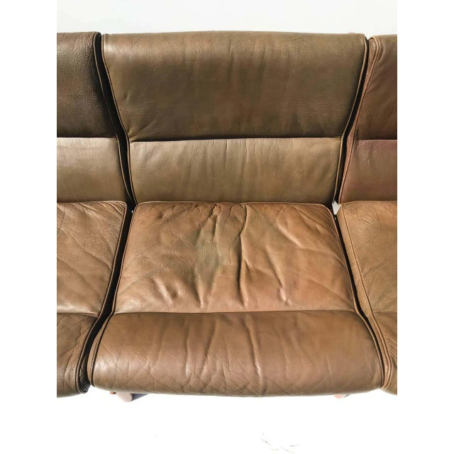 """Arne Norell Leather """"Kontiki"""" Sofa For Sale - Image 10 of 13"""