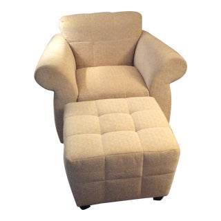 Kravet Accent Chair & Ottoman - A Pair For Sale