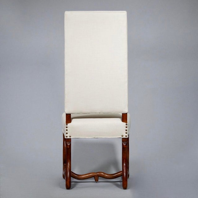 Cotton Set of 8 Newly Upholstered Os de Mouton Chairs For Sale - Image 7 of 10