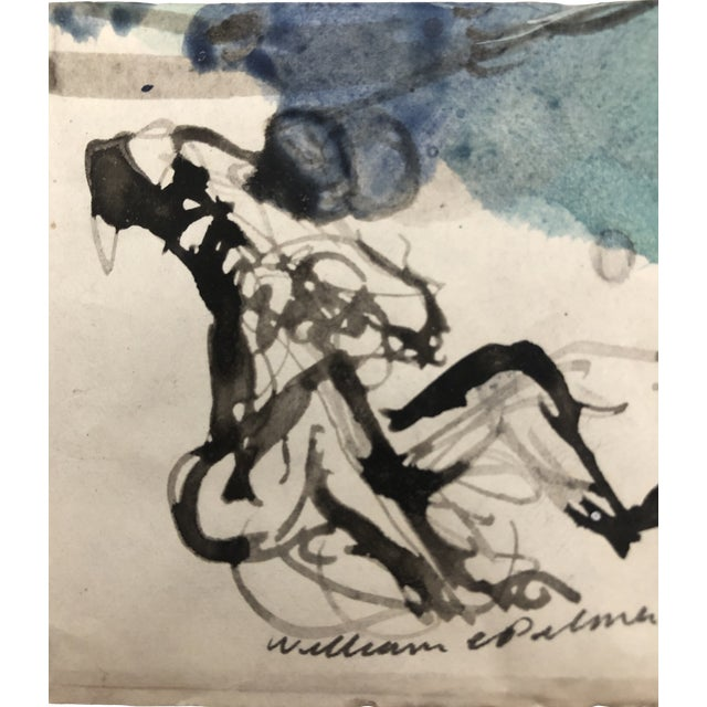 """Singing to the Moon"" Watercolor Study by William Palmer, 1947 For Sale"