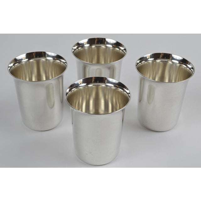 Mid 20th Century 20th Century Sterling Silver Shot Glasses - Set of 4 For Sale - Image 5 of 8