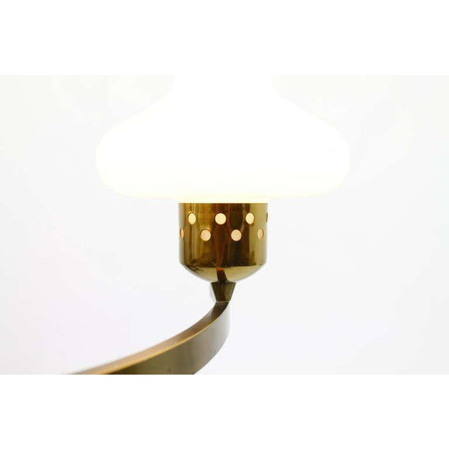1950s Glass & Brass Chandelier, Italy 1950`s For Sale - Image 5 of 8