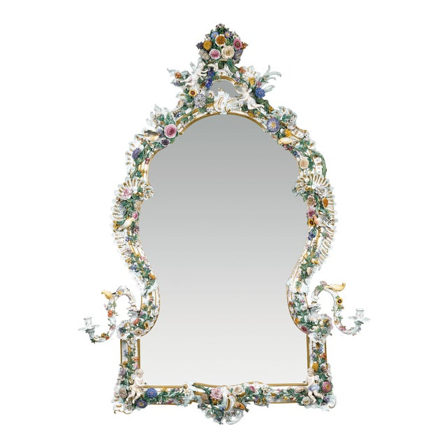 MEISSEN PORCELAIN ROCOCO MIRROR For Sale - Image 10 of 10