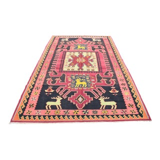 Antique Bold Design Caucasian Kilim Rug - 6′8″ x 10'11''