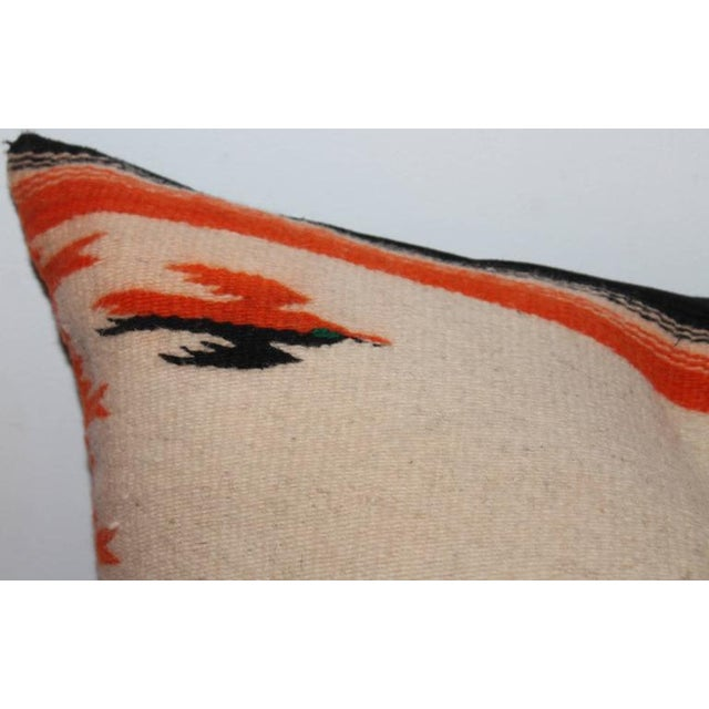 Native American Monumental Navajo Indian Weaving Bolster Pillow For Sale - Image 3 of 6