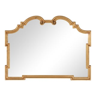 LaBarge Gilded Scroll Mirror For Sale