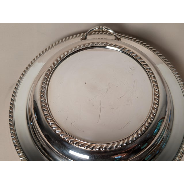 Epc 1940s Silver Plate Serving Dish For Sale - Image 12 of 13