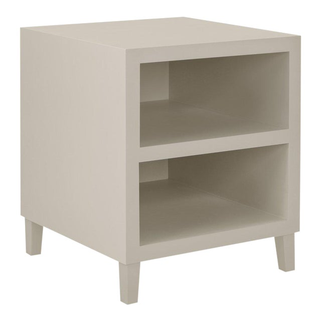 Elza End Table in Slate Gray For Sale