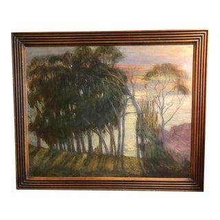 California Coastal Sunset Impressionist Painting For Sale