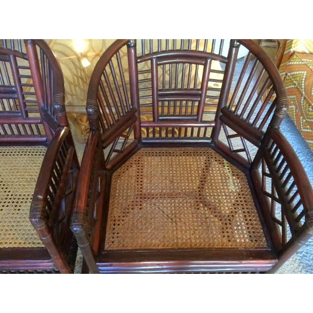 Elegant Bamboo & Rattan Chairs - a Pair - Image 3 of 4