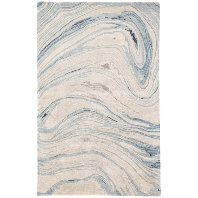 Jaipur Living Atha Handmade Abstract Blue/ Gray Area Rug - 8′ × 11′ For Sale In Atlanta - Image 6 of 6