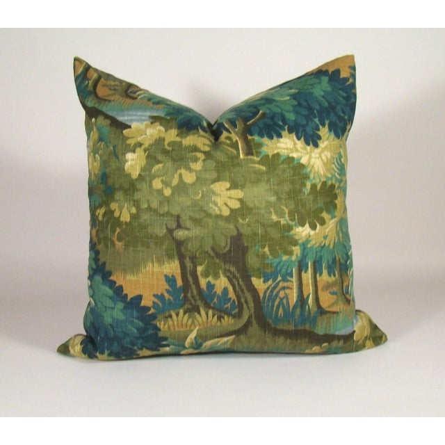 Verdure Print Linen Large Pillow Cover For Sale - Image 10 of 10