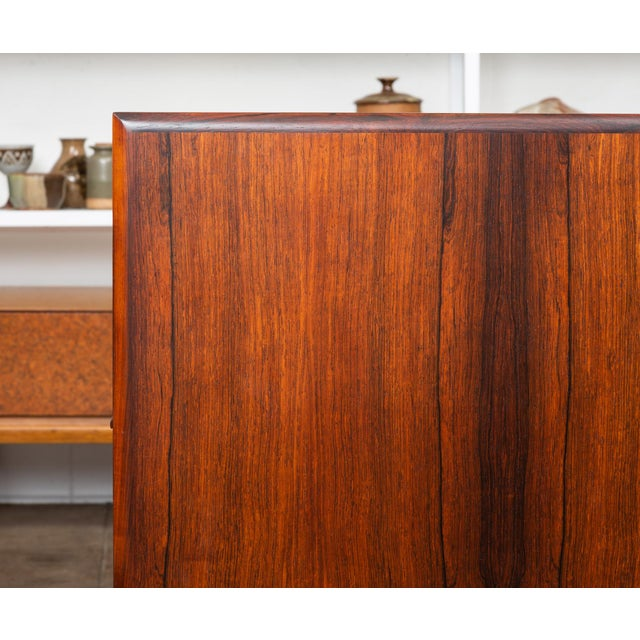 Brown Rosewood Executive Desk For Sale - Image 8 of 11