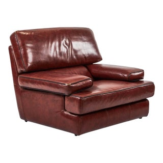 Saporiti Italia Leather Chair For Sale