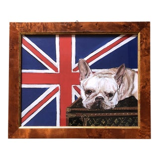 French Bull Dog Print Union Jack on Luis Vuitton For Sale