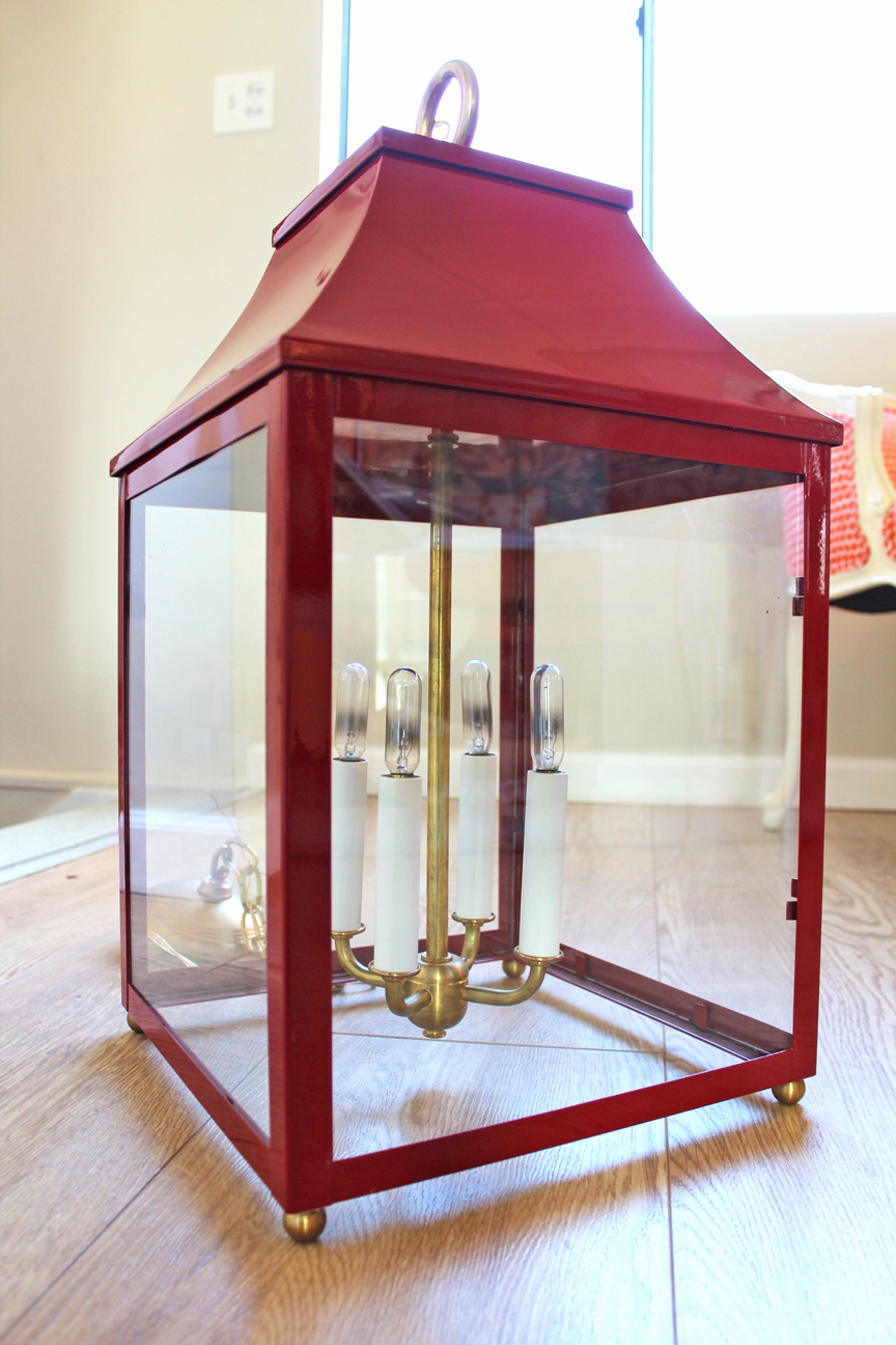 Oomph Palo Alto Red Lantern - Image 2 of 9  sc 1 st  Chairish & Oomph Palo Alto Red Lantern | Chairish