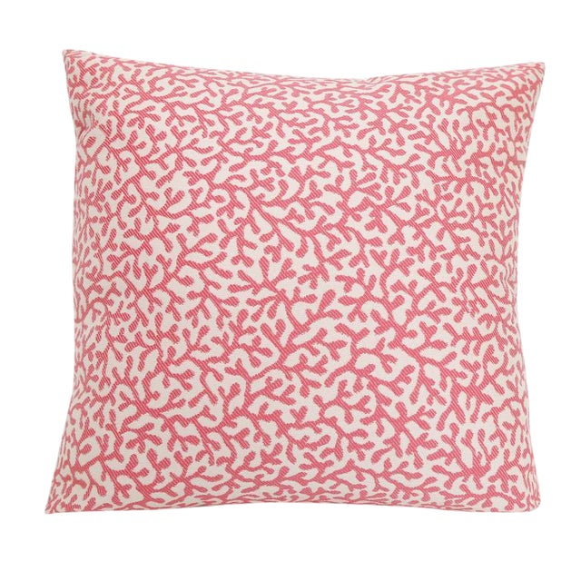 Outdoor/Indoor Coral Print Pillow For Sale