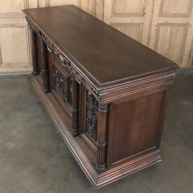 Late 19th Century 19th Century French Walnut Henri II Buffet For Sale - Image 5 of 13