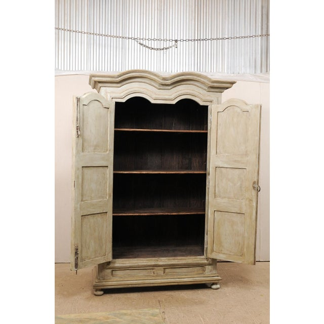 Taupe Brazilian Painted Wood Storage Cabinet For Sale - Image 8 of 12
