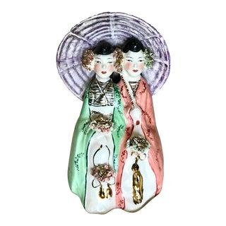 Vintage, Hand-Painted Figural Ceramic Girls For Sale