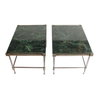 1930's Vintahge Jansen Style End Tables- A Pair For Sale