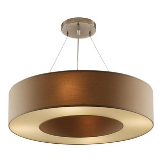 Art Deco Golden Brass Coloured Pendant Light