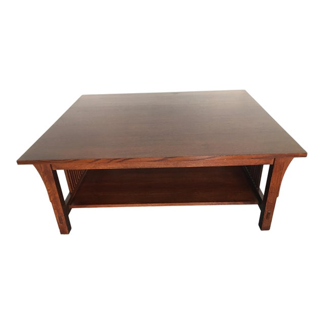 Fine Mission Stickley Oak Coffee Table Chairish Bralicious Painted Fabric Chair Ideas Braliciousco