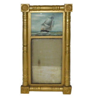 Gilt Wood Eglomise Mirror For Sale