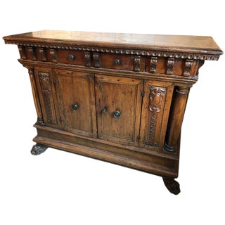 Mid 18th Century Antique Italian Walnut Court Cupboard/Sideboard For Sale