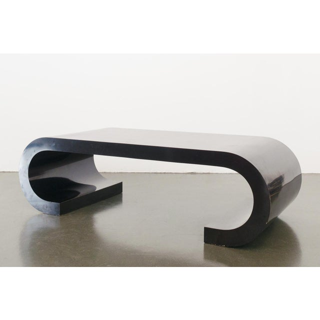 Modern Scroll Coffee Table For Sale - Image 3 of 7