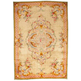 Antique Oversize Savonnerie Carpet For Sale