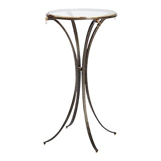 Global Views Modern Brass and Iron Ram Ring Accent Table For Sale