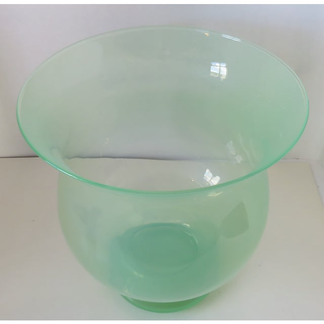 Transitional Large Blown Glass Vase For Sale - Image 3 of 8