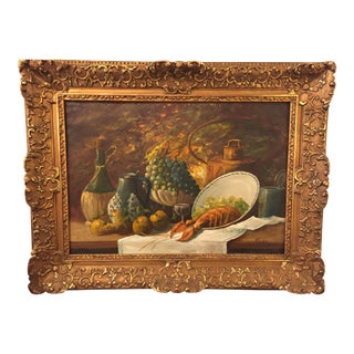 Belgian 1871-1964 Flachet Still Life Painting For Sale