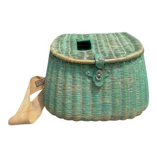 Vintage Wicker Fishing Creel For Sale