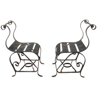 "Bouncer""Chairs Mid-Century Modern, Wrought Iron For Sale"