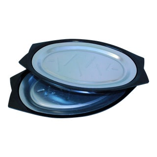 Nordic Ware Stainless Steel Platters - Set of 2 For Sale