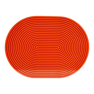 Orange & Red Lacquer Placemat For Sale