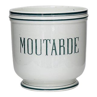 Large Antique French Store Display Mustard Pot For Sale