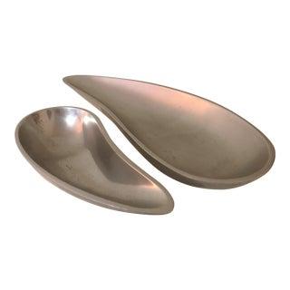 Nambe Yin Yang Decorative Bowls - a Pair For Sale