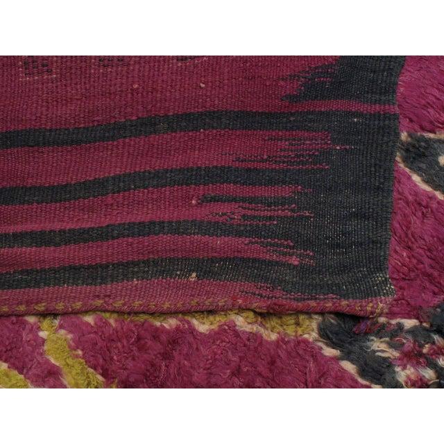 Black Ait Bou Ichaouen Moroccan Berber Carpet For Sale - Image 8 of 10