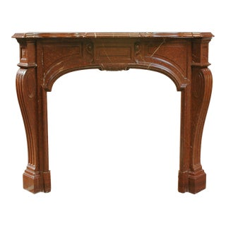 Rouge Royal Louis XIV Style Marble Mantel For Sale
