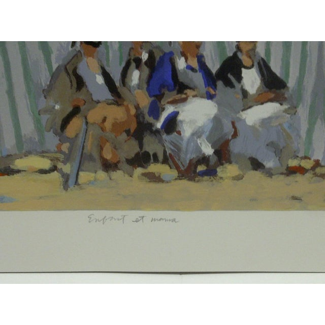 """Frederick McDuff """"Tents on the Beach"""" Limited Edition Print For Sale - Image 4 of 5"""
