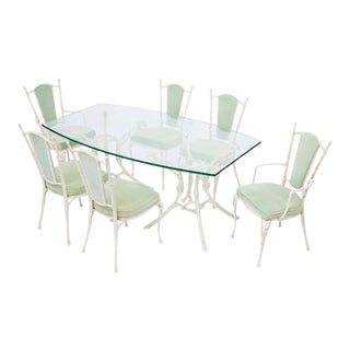 Vintage 1950s Molla Patio Dining Set - Set of 7 For Sale