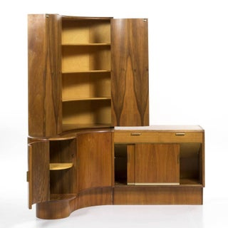 1960s Mid-Century Modern Danish Teak Desk Corner Storage Unit Preview