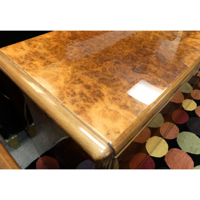 Wood Vintage Roche Bobois Lacquered Burl Wood Credenza For Sale - Image 7 of 12