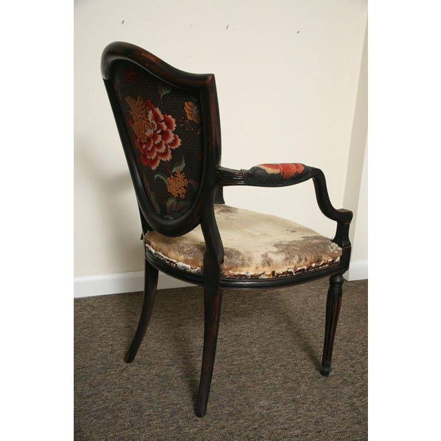 Pair of Neoclassical Elegant Wooden Armchairs For Sale - Image 9 of 10
