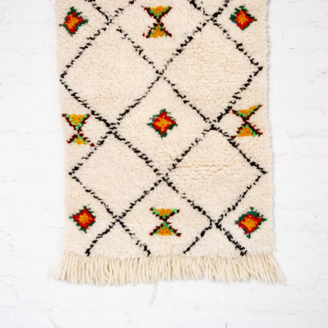 Moroccan Azilal Rug - 1′9″ × 3′7″ For Sale - Image 4 of 4