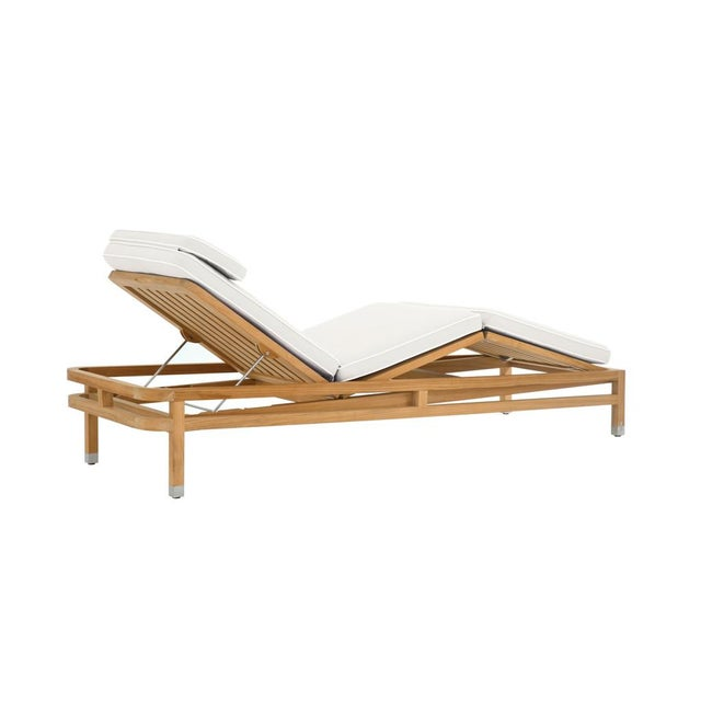 Summit Furniture Linley Adjustable Chaise For Sale - Image 4 of 4