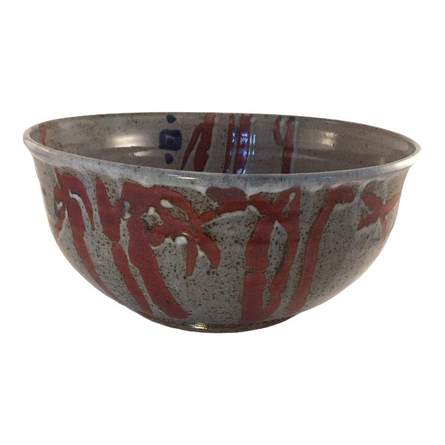 1960s Mid-Century Pottery Bowl For Sale